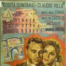 Cine: T07634 VALENTINA ROSITA QUINTANA CLAUDIO VILLA POSTER ORIGINAL ESTRENO 70X100 LITOGRAFIA. Lote 12063367