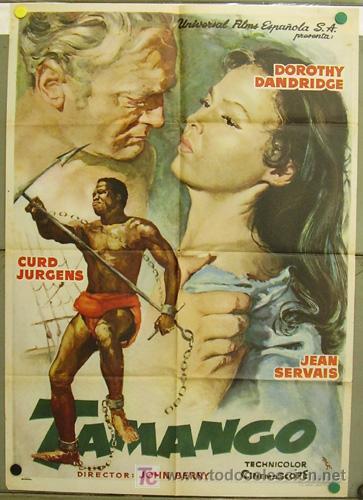 T07655 TAMANGO DOROTHY DANDRIDGE CURD JURGENS POSTER ORIGINAL ESTRENO 70X100 (Cine - Posters y Carteles - Aventura)