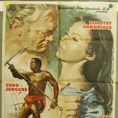 Cine: T07655 TAMANGO DOROTHY DANDRIDGE CURD JURGENS POSTER ORIGINAL ESTRENO 70X100. Lote 18146478