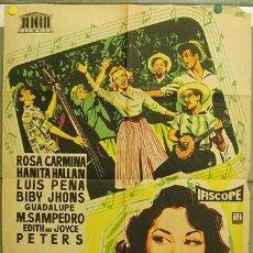 Cine: T07651 QUIEREME CON MUSICA ROSA CARMINA IQUINO POSTER ORIGINAL 70X100 ESTRENO LITOGRAFIA. Lote 9339992