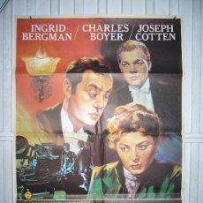 Cinema: LUZ DE GAS INGRID BERGMAN CHARLES BOYER JOSEPH COTTEN CUKOR POSTER ORIGINAL 70X100. Lote 26282936