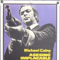 Cine: ZK65D ASESINO IMPLACABLE GET CARTER MICHAEL CAINE POSTER ORIGINAL 70X100 ESTRENO ENTELADO. Lote 7874919