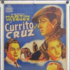 Cine: T07720 CURRITO DE LA CRUZ JORGE MISTRAL TOROS POSTER CIFESA ESTRENO 70X100 LITOGRAFIA ENTELADO. Lote 17654776