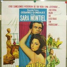 Cine: T07769 LA MUJER PERDIDA SARA MONTIEL INMA DE SANTIS POSTER ORIGINAL ARGENTINO 75X110 LITOGRAFIA. Lote 11955016