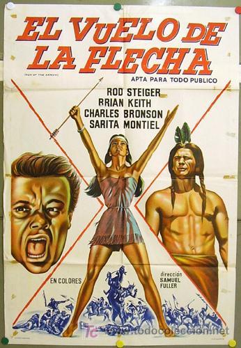 T07766 YUMA SARA MONTIEL CHARLES BRONSON INDIOS POSTER ORIGINAL ARGENTINO 75X110 LITOGRAFIA (Cine - Posters y Carteles - Westerns)
