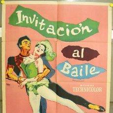 Cine: YF73D INVITACION A LA DANZA GENE KELLY POSTER ORIGINAL ARGENTINO 75X110 LITOGRAFIA. Lote 19293298