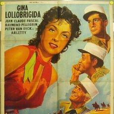 Cine: YY23D EL GRAN JUEGO GINA LOLLOBRIGIDA LEGION POSTER ORIGINAL ARGENTINO 75X110 LITOGRAFIA. Lote 18253041