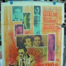 Cine: EL ASESINO SE EMBARCA - AÑO 1966 - CARTEL MEXICANO. Lote 7974733