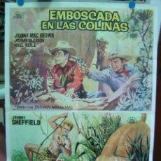 Cine: EMBOSCADA EN LAS COLINAS Y EL VOLCAN PERDIDO, JOHNNY SHEFFIELD - AÑO 1964. Lote 8007936
