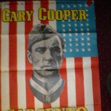 Cine: SARGENTO YORK (CARTEL ORIGINAL) GARY COOPER. Lote 24928599