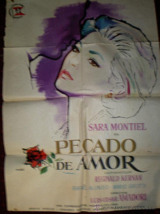 PECADO DE AMOR (CARTEL ORIGINAL) SARA MONTIEL (Cine - Posters y Carteles - Clasico Español)