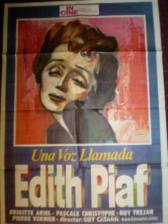 UNA VOZ LLAMADA EDITH PIAF (CARTEL ORIGINAL) (Cine - Posters y Carteles - Musicales)