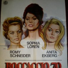 Cine: BOCCACCIO 70 (CARTEL ORIGINAL). Lote 16994694