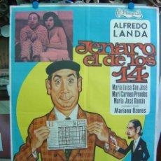 Cinéma: JENARO EL DE LOS 14 - AÑO 1974 - FUTBOL. Lote 8023507