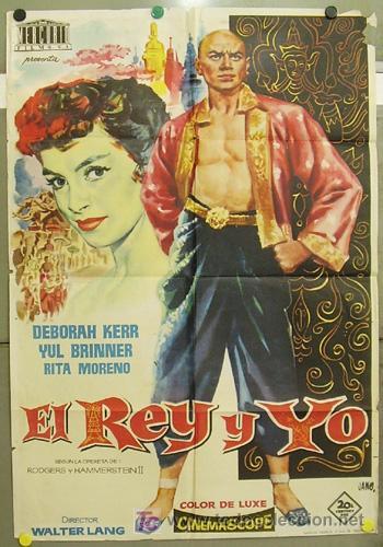 XH81D EL REY Y YO YUL BRYNNER DEBORAH KERR JANO POSTER ORIGINAL 70X100 ESTRENO (Cine - Posters y Carteles - Musicales)
