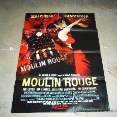 Cine: MOULIN ROUGE POSTER ORIGINAL 70X100. Lote 139372430