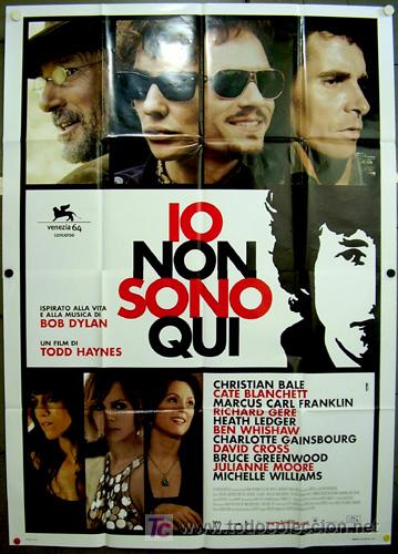 T07953 I'M NOT THERE BOB DYLAN CATE BLANCHETT POSTER ORIGINAL ITALIANO 140X200 (Cine - Posters y Carteles - Musicales)