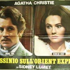 Cine: CU59 ASESINATO EN EL ORIENT EXPRESS AGATHA CHRISTIE BISSET YORK POSTER ORIGINAL ITALIANO 68X94. Lote 8129019