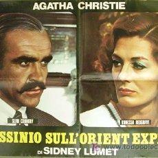 Cine: CU58 ASESINATO EN EL ORIENT EXPRESS AGATHA CHRISTIE CONNERY REDGRAVE POSTER ORIGINAL ITALIANO 68X94. Lote 8129020