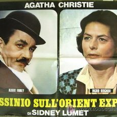 Cine: CU60 ASESINATO EN EL ORIENT EXPRESS AGATHA CHRISTIE FINNEY BERGMAN POSTER ORIGINAL ITALIANO 68X94. Lote 8129021