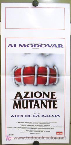 CV49 ACCION MUTANTE ALEX DE LA IGLESIA SANTIAGO SEGURA POSTER ORIGINAL ITALIANO 33X70 (Cine - Posters y Carteles - Clasico Español)