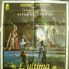 Cine: CV77 LOS LIBROS DE PROSPERO / PROSPERO'S BOOKS PETER GREENAWAY POSTER ORIGINAL 100X140 ITALIANO. Lote 8182425
