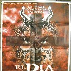 Cine: CV95 EL DIA DE LA BESTIA ALEX DE LA IGLESIA SANTIAGO SEGURA SATANIC POSTER ORIGINAL ITALIANO 100X140. Lote 8206610
