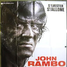 Cine: 2CW04D JOHN RAMBO / RAMBO 4 SYLVESTER STALLONE POSTER ORIGINAL ITALIANO 140X200. Lote 8206664