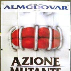 Cine: CW00 ACCION MUTANTE ALEX DE LA IGLESIA SANTIAGO SEGURA POSTER ORIGINAL ITALIANO 140X200. Lote 8206669