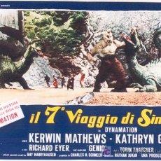 Cine: T08057 SIMBAD Y LA PRINCESA RAY HARRYHAUSEN SET DE 10 POSTERS ORIGINAL ITALIANO 47X68. Lote 19328751