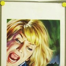 Cine: T07992 THE HORROR OF BLACKWOOD CASTLE EDGAR WALLACE TERROR POSTER ORIGINAL 33X70 ITALIANO. Lote 8186111