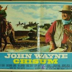 Cine: OT82D CHISUM JOHN WAYNE SET DE 10 POSTERS ORIGINAL ITALIANO 47X68. Lote 15951168