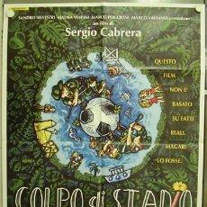 Cine: T08188 GOLPE DE ESTADIO FUTBOL SERGIO CABRERA EMMA SUAREZ POSTER ORIGINAL ITALIANO 100X140. Lote 8247193