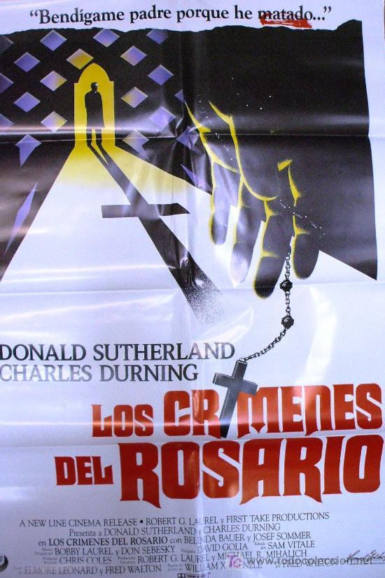 CARTEL DE CINE: LOS CRÍMENES DEL ROSARIO. AÑO 1987 (Cine - Posters y Carteles - Clasico Español)