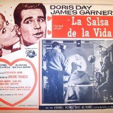 Cine: DORIS DAY - LA SALSA DE LA VIDA - JAMER GARNER - NORMAN JEWISON - ORIGINAL LOBBY CARD MEXICANO. Lote 18651327