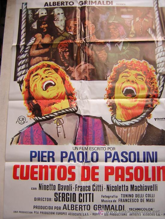CUENTOS DE PASOLINI PRODUCIDO POR ALBERTO GRIMALDI (Cine - Posters y Carteles)
