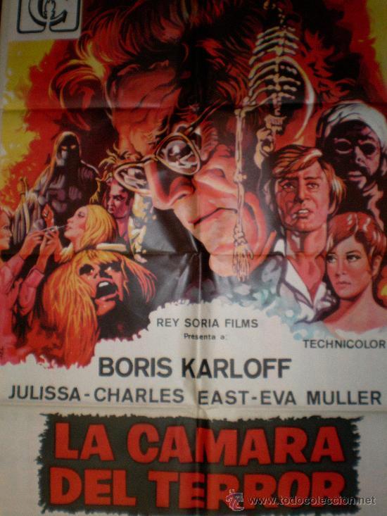 LA CAMARA DEL TERROR 1968 (CARTEL ORIGINAL DE LARA) BORIS KARLOFF (Cine - Posters y Carteles - Terror)