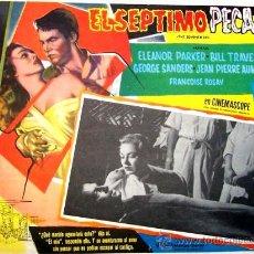 Cine: ELEANOR PARKER - EL SEPTIMO PECADO - GEORGE SANDERS - RONALD NEAME - ORIGINAL LOBBY CARD MEXICANO. Lote 14204560