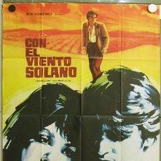Cine: T08226 CON EL VIENTO SOLANO IMPERIO ARGENTINA ANTONIO GADES POSTER ORIGINAL 70X100 DEL ESTRENO. Lote 8722072