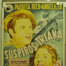 Cine: DU20 SUSPIROS DE TRIANA PAQUITA RICO ANGELILLO CIFESA POSTER ORIGINAL 70X100 ESTRENO LITOGRAFIA. Lote 9029462