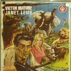 Cine: EB44 SAFARI VICTOR MATURE JANET LEIGH POSTER ORIGINAL 70X100 ESTRENO. Lote 10766375