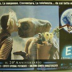 Cine: DM08 E.T. EL EXTRATERRESTRE STEVEN SPIELBERG ESPECTACULAR SET DE 8 POSTERS ITALIANO 47X68. Lote 180474380