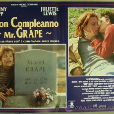 Cine: RR33D A QUIEN AMA GILBERT GRAPE JOHNNY DEPP LEONARDO DICAPRIO SET 6 POSTERS ORIGINAL ITALIANO 47X68. Lote 19648051