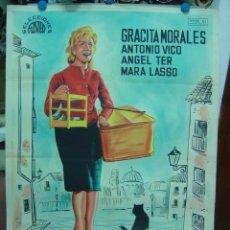 Cine: LA CHICA DEL GATO - GRACITA MORALES - LITOGRAFIA - ILUSTRADOR: --, AÑO 1962. Lote 116581506
