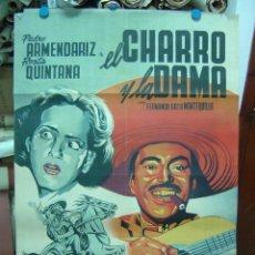 Cine: EL CHARRO Y LA DAMA - LITOGRAFIA - ILUSTRADOR: JANO, AÑO --. Lote 27014580