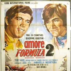 Cine: RF12D GIACOMO AGOSTINI GRAND PRIX FORMULA 1 AUTOMOVILISMO POSTER ORIGINAL ITALIANO 140X200. Lote 19912870
