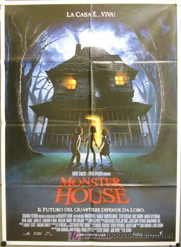DN48 MONSTER HOUSE ANIMACION POSTER ORIGINAL ITALIANO 100X140 (Cine - Posters y Carteles - Infantil)