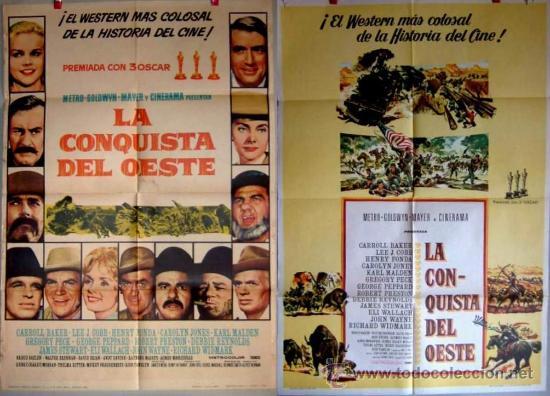 LA CONQUISTA DEL OESTE CINERAMA DOS POSTERS DIFERENTES (Cine - Posters y Carteles - Westerns)