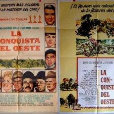Cine: LA CONQUISTA DEL OESTE CINERAMA DOS POSTERS DIFERENTES. Lote 22530297