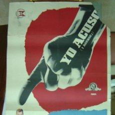 Cine: YO ACUSO - LITOGRAFIA - ILUSTRADOR: --, AÑO 1959. Lote 27185395